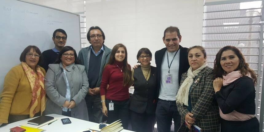 Group of advocates for deafblindness